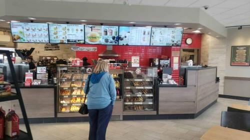 tim hortons restaurant interior by the make group